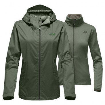 Jaqueta Impermeável The North Face Arrowood Triclimate Fem Verde