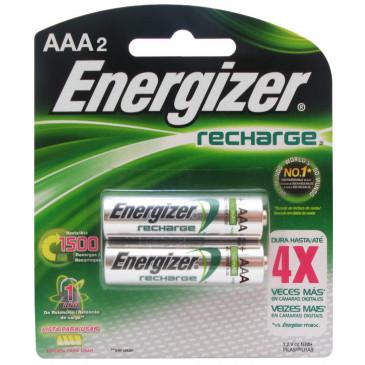 Pilhas Recarregáveis Energizer AAA-2