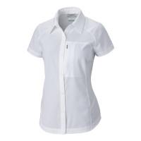Camisa Columbia Silver Ridge Manga Curta Feminina White