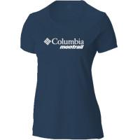 Camiseta Columbia Cool Breeze Montrail Feminina Azul Petróleo