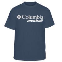 Camiseta Columbia Cool Breeze Montrail Masculina Azul Petróleo
