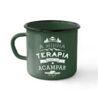 Caneca Esmaltada Guepardo Camping Terapia