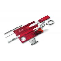 Canivete Victorinox SwissCard Lite Vermelho Translúcido