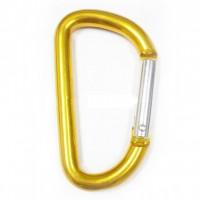 Mini mosquetão chaveiro amarelo