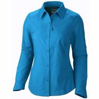 Camisa Columbia Silver Ridge Manga Longa Feminina Azul