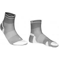 Meia Curtlo Comfort | Branco e Cinza