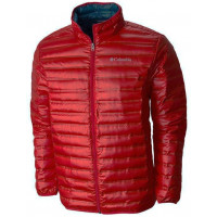 Jaqueta de Pluma Columbia Flash Forward Down Mountain Red