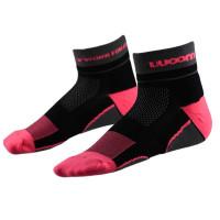 Meia Running Woom X-Fit Feminino - Preto | Pink