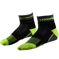 Meia Running Woom X-Fit Masculino Neon - Preto | Verde